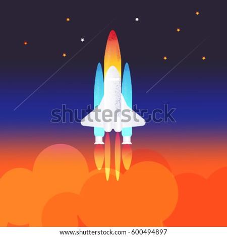 Sunset Aircraft Fly Over Head Explain Stock Illustration ...