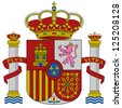 Spain flag coat of arms, vector illustration. - stock vector