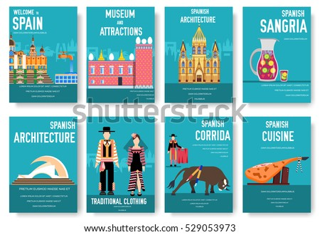 Country chile thin line guide goods stock vector 515349466 for Country brochure template