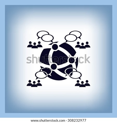 speech bubbles icon vector icon
