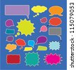 speech & chat bubbles icons set, vector - stock photo