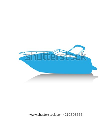 motor boat isolated on white background stock photo 372616504 shutterstock. Black Bedroom Furniture Sets. Home Design Ideas