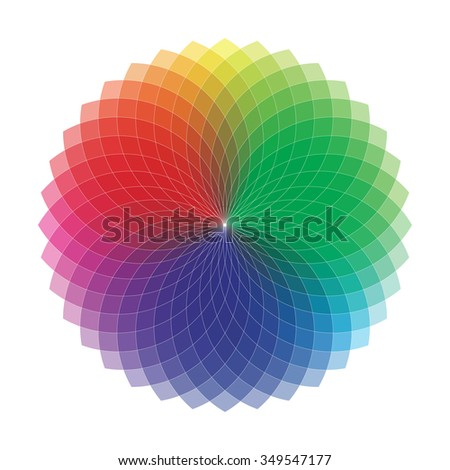 Spirograph Geometric Drawing - Color Spectrum (Set A)