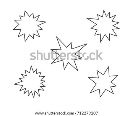 Glow star background eps10 stock vector 74515084 shutterstock splash stars outline icon set sciox Gallery