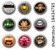 Spooky Halloween bottle caps. To see similar, please VISIT MY GALLERY. - stock