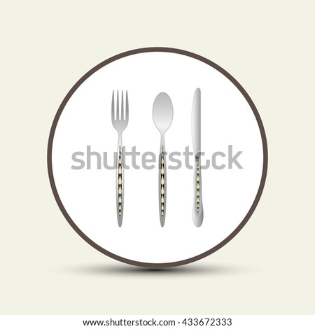 spoon fork knife vector illustration