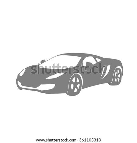 Super Car Flat Icon Stock Vector Shutterstock