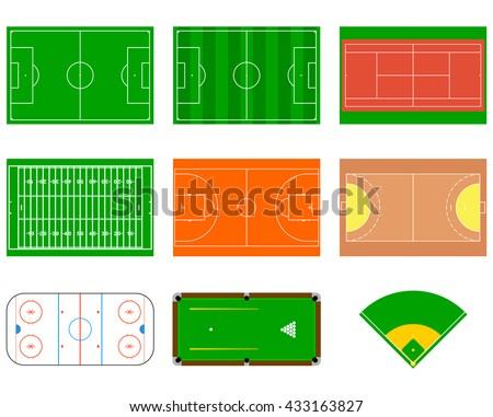 Sport courts and fields. Can be used for demonstration, education, strategic planning and other proposes.