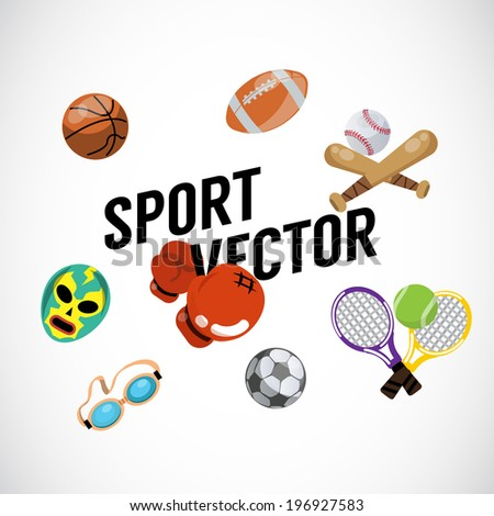 Sport equipments - vector Illustration