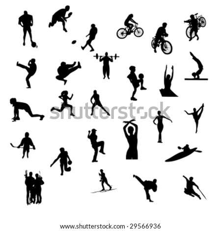 sport silhouettes - vector