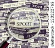 SPORT. Word collage. Vector illustration. - stock photo