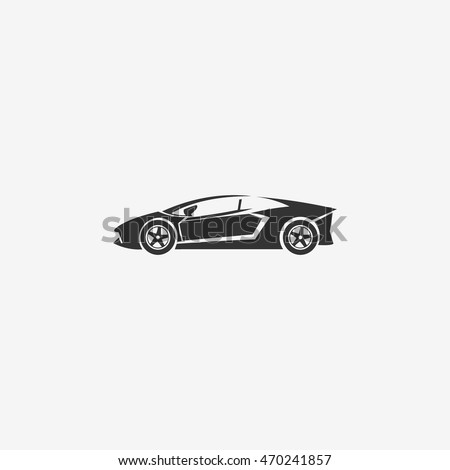 Classic Sport Car Flat Icon Stock Vector Shutterstock