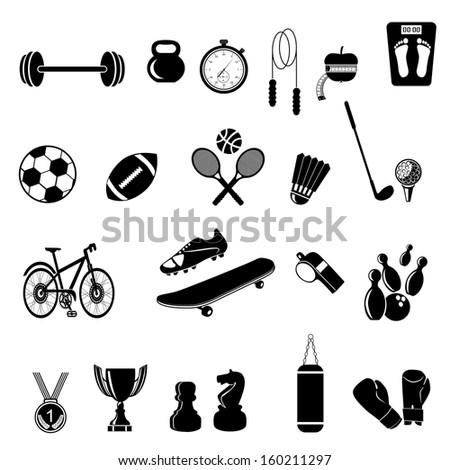 Sports icon collection - vector illustration