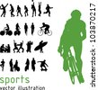 Sports silhouettes. - stock vector