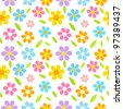 Spring flowers seamless pattern - stock vector