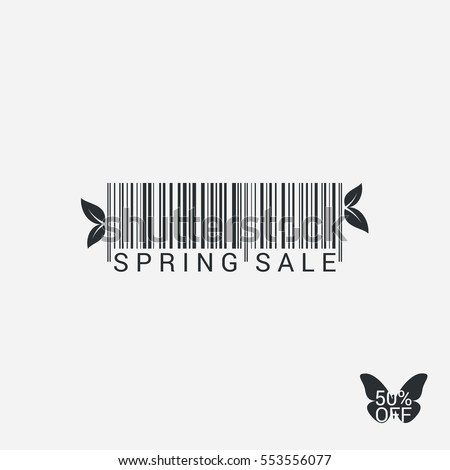 Spring Sale Bar code Design Background