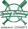 Spring Training Baseball Stamp - stock vector