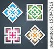 Square design elements. EPS10.