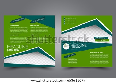 Vector Eco Green Brochure Flyer Poster Stock Vector 184623950