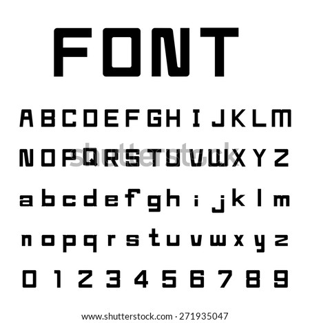 Square Font and number