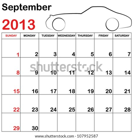 Square Format Note Calendar Collection Cars Vector 107952611 – Collection Note