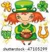 St. Patrick's Day  leprechaun series 3 - stock vector