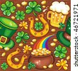 St. Patrick's day seamless background - stock vector