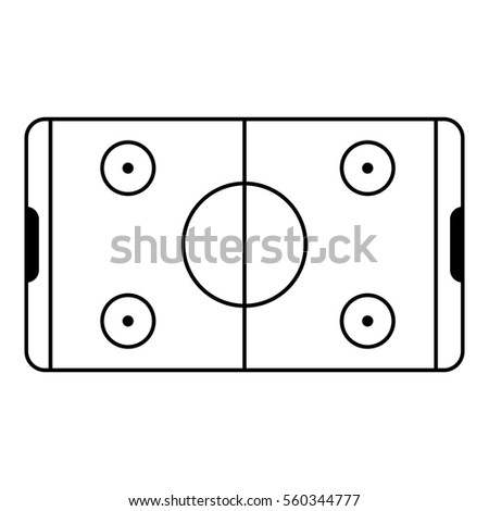Field Hockey Icon Outline Illustration Vector 548778163