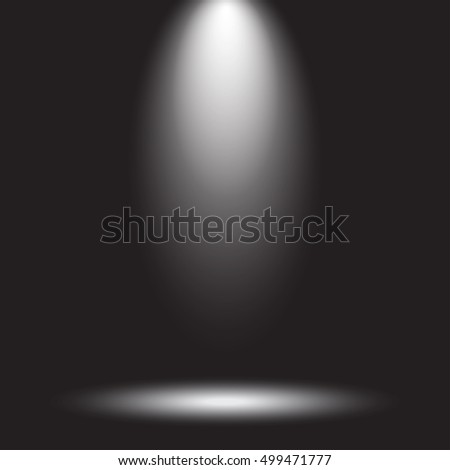 Stage spotlight on a dark background. Vector illustration