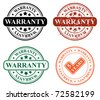 stamp design- warranty - stock vector