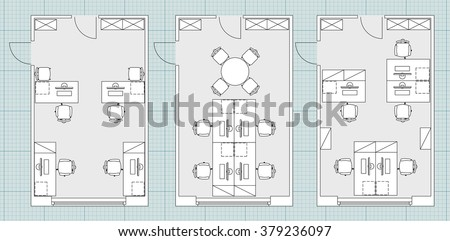 Standard furniture symbols used architecture plans stock vector standard furniture symbols used in architecture plans icons set office planning blueprint graphic design malvernweather Choice Image