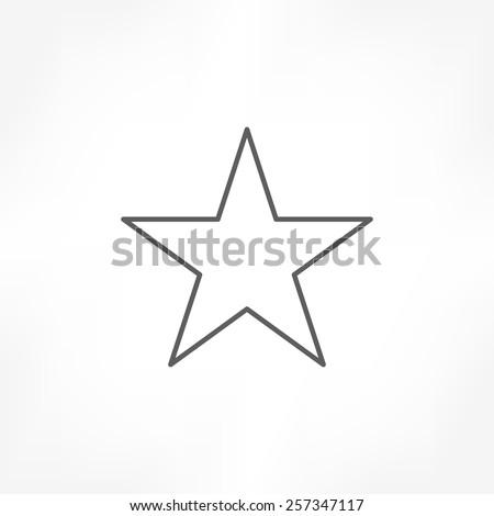 Star icon outline vector stock vector 1027731379 shutterstock star icon sciox Gallery
