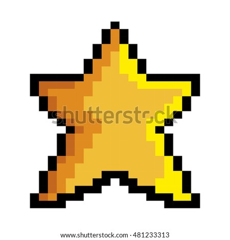 Pixel art star Vector Image - 1958352 | StockUnlimited  |Pixel Star