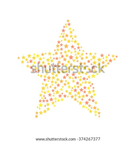 Star symbol consists of small stars