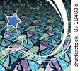 Star vector background - stock vector
