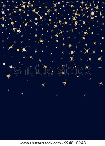 Cosmic Abstract Vector Round Background Gold Stock Vector