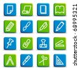 Stationery and office icons - stock vector