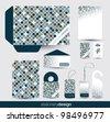 Stationery design set in editable vector format - stock vector