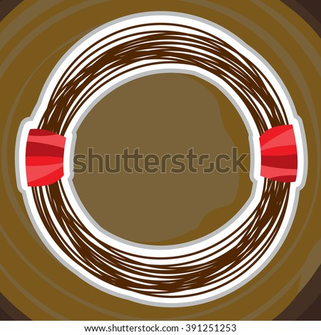 Steel Wire Rope Cable Cartoon Style Stock Vector 385895212 ...