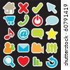 Sticker icons - stock vector