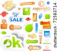 Sticker set. Vector great collection for design. Big collection of sale elements - coupon, icon, tag, banner - stock vector
