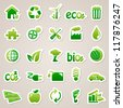 Stickers about ecology concept. - stock vector