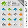 Stickers - Cloud computing Icons - stock vector