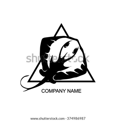 stock vector stingray logo jpg 450x470 cartoon stingray logo - Corvette Stingray Logo Vector