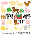 stock farm icons - stock vector