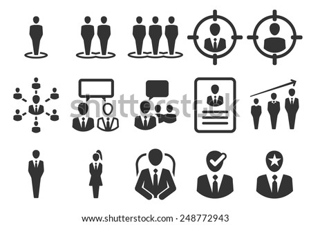 Stock Vector Illustration: Human resource icons