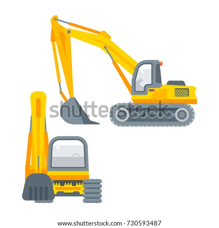 Excavator Vector Illustration Can Be Used Stock Vector ...