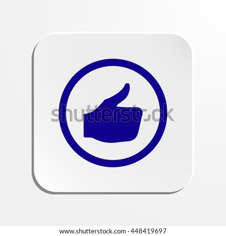 stock vector thumbs up icon vector like icon social network vector icon for app web site etc