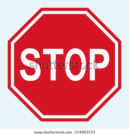vector stop sign icon stock vector 192799610 shutterstock