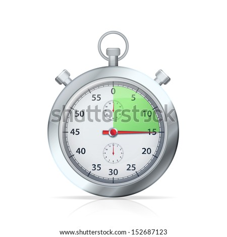 Stopwatch. Vector illustration